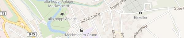 Karte Katholische Kirche Meckesheim