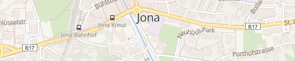 Karte Parkhaus Stadthaus Jona