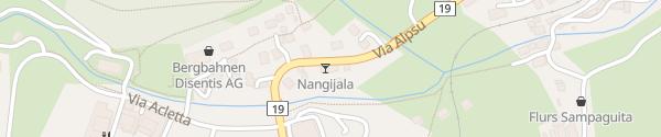 Karte Nangijala Disentis