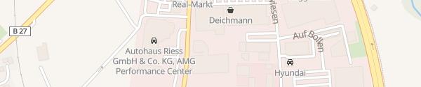 Karte Audi Autohaus bhg Balingen