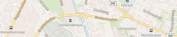 Karte Gemeindewerke Rüti