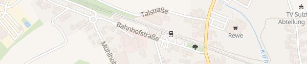 Karte Bahnhof Sulzfeld