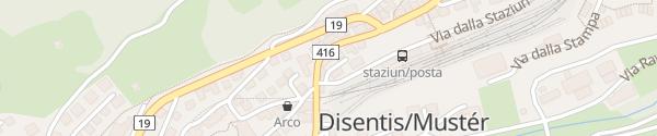Karte Hotel Restaurant La Furca Disentis
