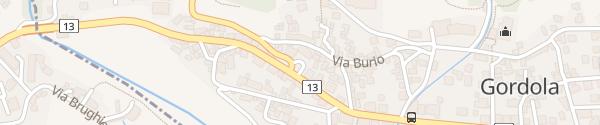 Karte Bivio Val Verzasca Gordola