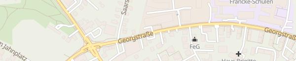 Karte Kundenparkplatz des Bauhofes Detmold