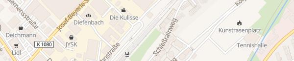 Karte P&R Parkplatz Eisenbahnstraße Weil der Stadt