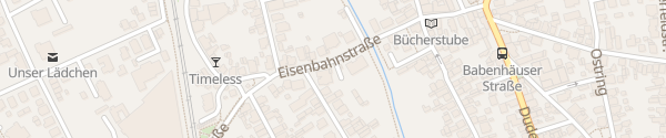 Karte Eisenbahnstraße Rodgau