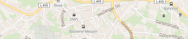 Karte Evangelisches Gemeindezentrum Rangendingen