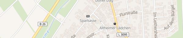 Karte Feuerwehr Altheim Münster