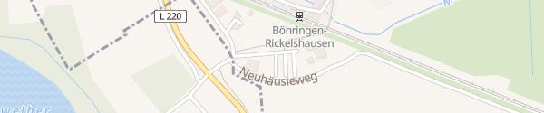 Karte Park and Ride Parkplatz Bahnhof Radolfzell am Bodensee