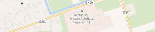Karte Autohaus Rieper Ihlienworth