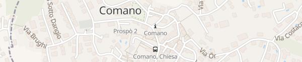 Karte Chiesa Santa Maria della Purificazione Comano