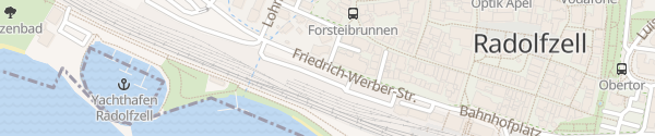 Karte Parkplatz Bahnhof Radolfzell