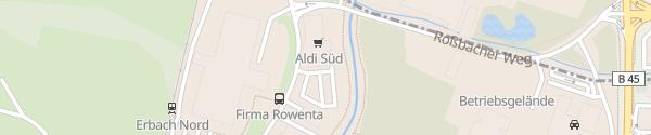Karte ALDI Süd Erbach