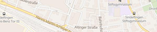 Karte ALDI Süd Sindelfingen