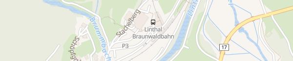 Karte Talstation Braunwald-Standseilbahn Linthal/Braunwald