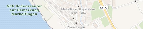 Karte Bahnhof Markelfingen Radolfzell am Bodensee