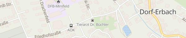 Karte Tierarztpraxis / Plusenergiehaus Erbach