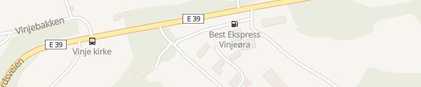 Karte Best Vinjeøra