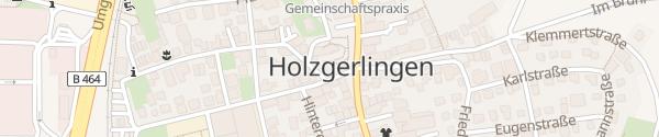 Karte Stadtmitte Holzgerlingen