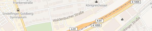 Karte Gemeinnützige Werkstätten und Wohnstätten Sindelfingen