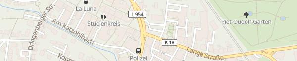 Karte Rathausplatz Bad Driburg