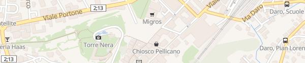Karte Autosilo Piazza del Sole Bellinzona