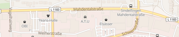 Karte A.T.U Sindelfingen