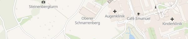 Karte Parkhaus 6 HNO-Klinik Tübingen