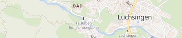 Karte Luftseilbahn Luchsingen - Brunnenberg Glarus Süd