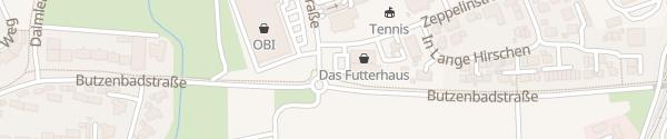 Karte dm-drogerie markt Mössingen