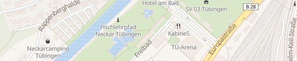 Karte E-Bike Ladeschließfach Freibad Tübingen