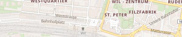 Karte Tiefgarage Stadtsaal Wil