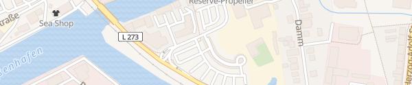 Karte Parkhaus am Binnenhafen Husum