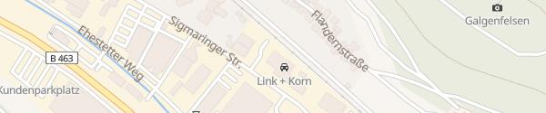 Karte Autohaus Link + Korn Albstadt