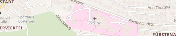 Karte Parkplatz Spital Wil