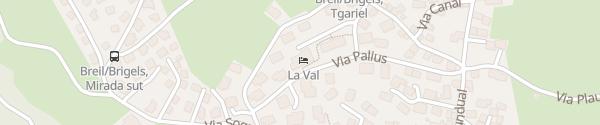 Karte Hotel La Val Breil-Brigels