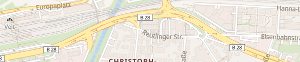 Karte Parkhaus Metropol Tübingen
