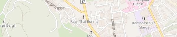 Karte Zeughaus Glarus