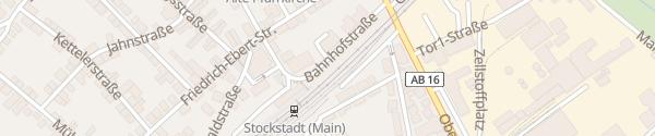 Karte Bahnhof Stockstadt am Main