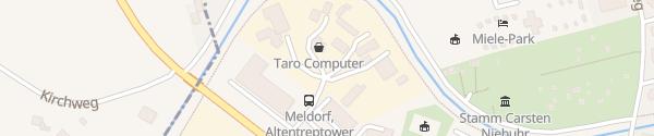 Karte Altentreptower Straße Meldorf