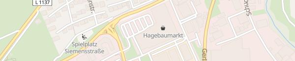 Karte Hagebaumarkt und Floraland Ditzingen