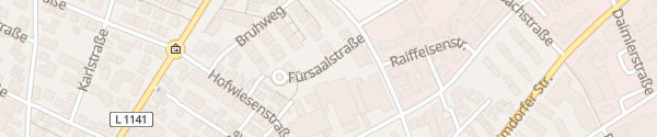 Karte Fürsaalstraße Gerlingen
