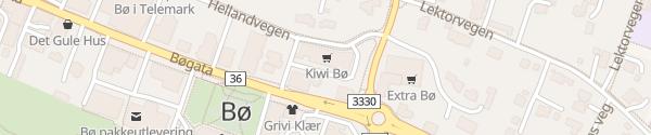 Karte Kiwi Markt Bø i Telemark
