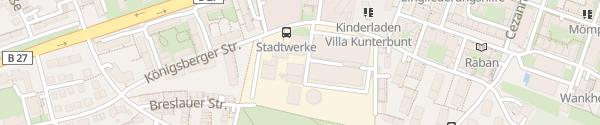 Karte Stadtwerke Tübingen, Kundenzentrum Tübingen