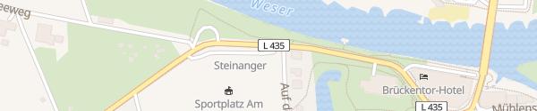 Karte Parkplatz Hartler Straße Rinteln