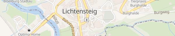Karte Parkhaus Wolfhalden Lichtensteig