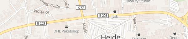 Karte Markt Heide