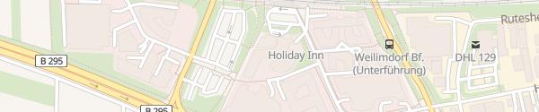 Karte Holiday Inn Stuttgart