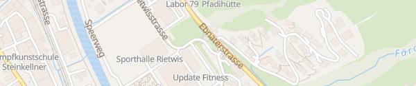 Karte Öko-Tankstelle Wattwil